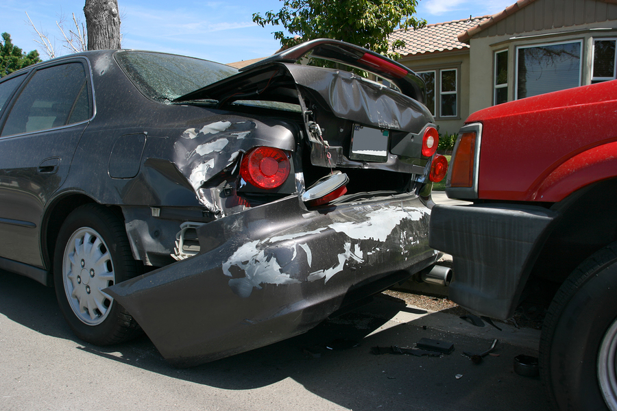 Car accident on the street picture for insurance company